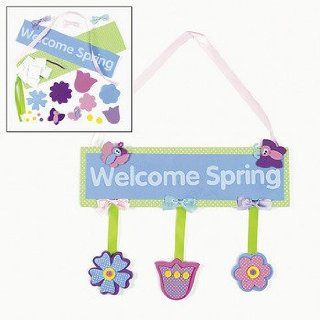 Welcome Spring Door Hanger Craft Kit   Crafts for Kids & Decoration Crafts   Arts And Crafts Supplies