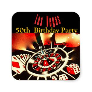 Las Vegas Casino Theme Birthday Party Stickers