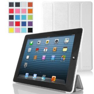 MoKo Ultra Slim Lightweight Smartshell Stand Case for Apple iPad 4 & 3 (3rd and 4th Generation with Retina Display) / iPad 2 9.7 Inch Tablet, WHITE (with Smart Cover Auto Wake/Sleep) Computers & Accessories