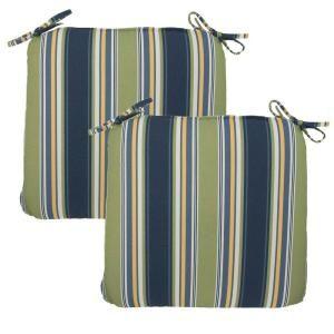 Hampton Bay Burkester Stripe Outdoor Chair Cushion (2 Pack) 7348 02002100