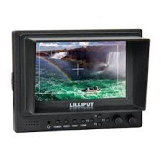 Professional LILLIPUT 5'' 569 / O Lilliput 569GL 50NP/HO/Y Color TFT LCD Monitor With HDMI, YPbPr, AV Input HDMI Output / With F 970 & QM91D Battery Plate + Mini Stand Base + Sun Shade Cover: Electronics