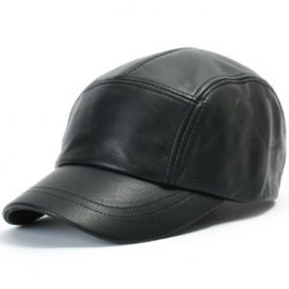 ililily Flexfit GANGNAM STYLE Genuine Leather Vintage Pre curved bill Fashion Simple Design Ball Cap Trucker Hat with Adjustable Leather Strap (ballcap 569 1) at  Men�s Clothing store