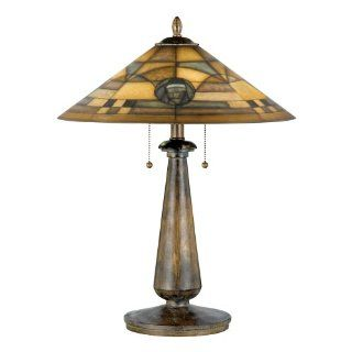 Quoizel Table Lamp Reverse Painted Glass Shade Q571T
