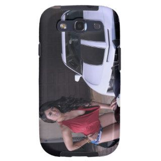 Bikini model poses with a Camaro in the background Samsung Galaxy SIII Case