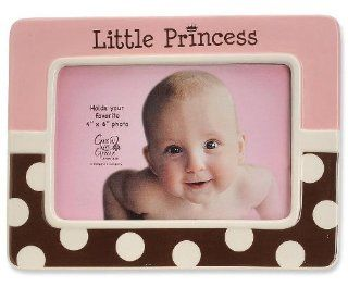 LITTLE PRINCESS pink/chocolate frame by Enesco   4x6   Single Frames