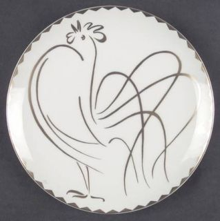 Fitz & Floyd Coq DOr Salad Plate, Fine China Dinnerware   Gold Design Edge,Roos