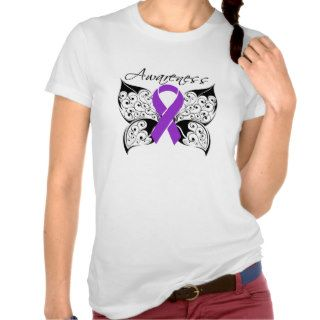 Tattoo Butterfly Awareness   Pancreatic Cancer Tee Shirts