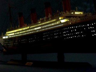 "Britannic Limited 40"" w/ LED Lights   Wooden Model Cruise Liner   LED Lighted Cruise Ship Model   Model Boat   Brand New   Sold Fully Assembled   Not a Model Ship Kit   Hobby Pre Built Model Boats"