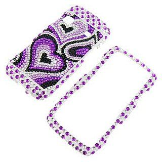 Rhinestones Protector Case for Samsung Replenish SPH M580, Pear Purple Full Diamond: Cell Phones & Accessories