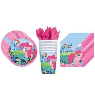 My Little Pony Friendship Party Supplies Pack Including Plates, Cups and Napkins   8 Guests Toys & Games