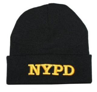NYPD Winter Hat Police Badge New York Police Department Black & Gold One Size at  Men�s Clothing store