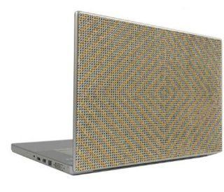 """Silver on Gold 17"""" Crystal Rhinestone Bling Laptop Sticker Sheet Cover Skin Tablet Phone  Player+"""