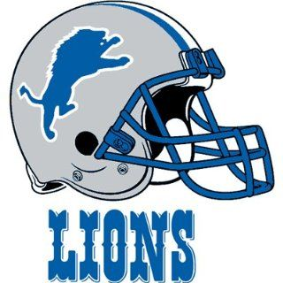 Detroit Lions Team Logo Transfers Rub On Stickers/Tattoos (3 Pack): Sports & Outdoors