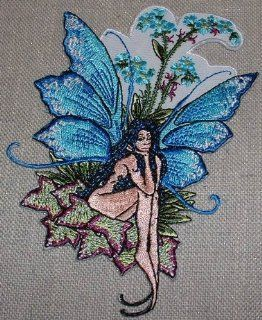 Amy Brown Fairy Forget Me Not Embroidered PATCH