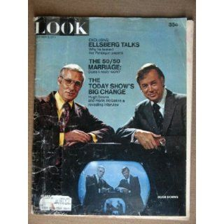 LOOK Magazine, Oct 5, 1971, with Hugh Downs and Frank McGee of the Today show on the cover. Inside Daniel Ellsberg discusses why he leaked the Pentagon Papers Scarce. Cover is tattered. Fred Sammus Books
