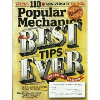 Popular Mechanics Magazine March 2012 Special 110th Anniversary Edition, Over a Century of DIY Wisdom: Editor in Chief James B Meigs: Books