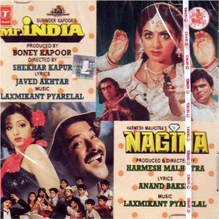 Mr.india and nagina(indian/bollywood movie/hit songs/collection of songs,romantic,emotional songs/Mr. India and Nagina/anil kapoor, sri devi) Music