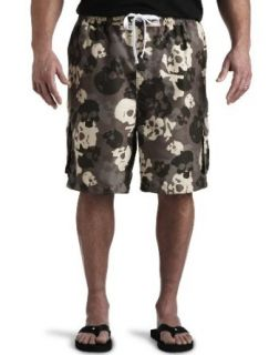 626 BLUE Big & Tall Skull Camo Cargo Swim Trunks at  Men�s Clothing store: Fashion Swim Trunks