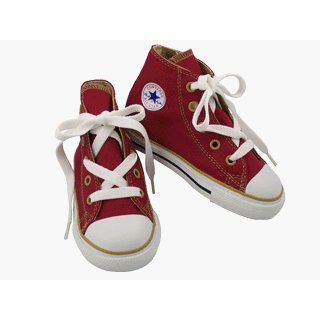Converse All Star Chuck Taylor Kids Hi Top Shoes Sneakers Red Gold, Toddler Size 5 Fashion Sneakers Shoes