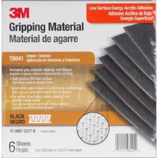 3M Gripping Material TB641 Grey, 6 in x 7 in sheets (6 sheets per bag, 12 bags per case): Acrylic Adhesives: Industrial & Scientific