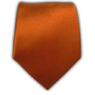 100% Silk Woven Satin Solid Burnt Orange Tie at  Men�s Clothing store