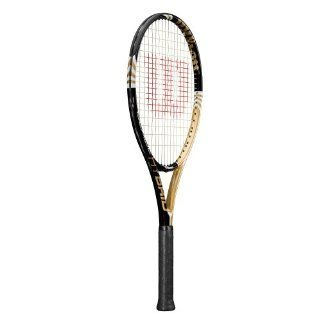 Wilson Blade Hybrid Strung Adult Recreational Tennis Racket (Black/Gold, 4 1/2) : Sports & Outdoors