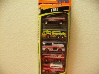 Matchbox 5 Pack Fire Truck Set Action System 1996 Toys & Games