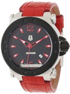 Gio Monaco Men's 763 A2 Graffiti Automatic Black Dial Alligator Leather Watch at  Men's Watch store.