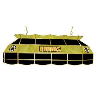NHL Boston Bruins Stained Glass 40 inch Lighting Fixture  Table Lamps  Sports & Outdoors