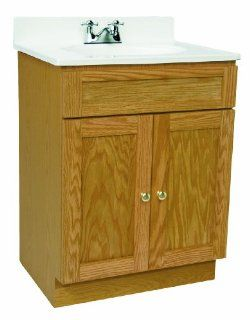 Design House 541631 Vanity Combo Oak Vanity Bathroom Cabinet with 2 Doors, 25 Inch by 19 Inch by 31.5 Inch