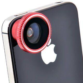 Patuoxun 180 Degree Fish Eye Fisheye Magnetic Camera Lens Kit for iPhone 5 iPhone 4S 4 Electronics