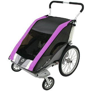 Chariot Deluxe Cougar 2 CTS Adventure Carrier (Chassis Only)   Purple/Silver/Grey  Child Carrier Bike Trailers  Sports & Outdoors