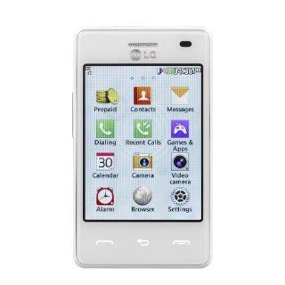 White LG 840G Prepaid Phone With Triple Minutes (Tracfone): Cell Phones & Accessories