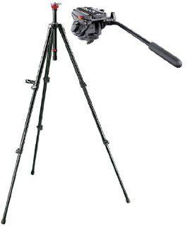 Manfrotto 701HDV, 755XBK Video Kit with 701HDV Pro Fluid Video Mini Head, 755XBK MDEVE Black Aluminum Video Tripod  Camera & Photo