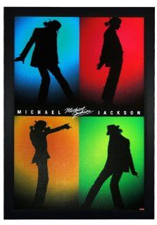 """Michael Jackson, Silhouettes Shadow 24""""x36"""" Framed Celebrity Poster (E1 1084)   Prints"""