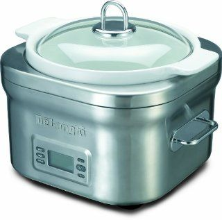 DeLonghi DCP707 Stainless Steel Programmable 5 Quart Slow Cooker Multi Cooker Pot Kitchen & Dining