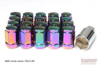 Neon Chrome 20 pcs Nuts + 1 key set Close End End RACING WHEEL Extended Forged Steel Lug Nut 12x1.25mm Wheel Nut Nuts Fit ALL SUBARU Subaru , Legacy , Legacy Gt , Legacy 2.5gt Limited , Legacy 2.5i Premium , Impreza , Impreza STI , Impreza WRX , 2.5rs Impr