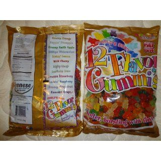 Albanese 12 Flavor Assorted Gummi Bears, Fat Free, 5 Pound Bags (Pack of 2)  Gummy Candy  Grocery & Gourmet Food