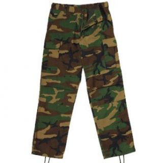 Woodland Camo BDU Pants (XXL) Military Pants Clothing
