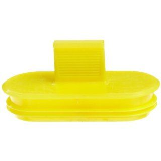 "Kapsto 360 KS 4117 Polyethylene Contact Protection, Yellow, 1.65"" Long x 0.705"" Wide (Pack of 100): Pipe Fitting Protective Caps: Industrial & Scientific"