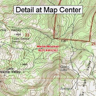 USGS Topographic Quadrangle Map   Marble Mountain, California (Folded/Waterproof)  Outdoor Recreation Topographic Maps  Sports & Outdoors
