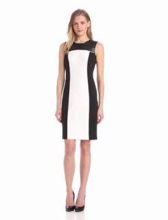 Calvin Klein Women's Colorblock Dress with Zip, Birch, 12 at  Women�s Clothing store