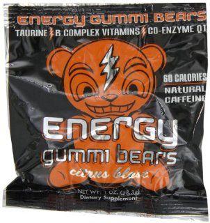 Energy Gummi Bears by Loud Truck Citrus Blast Box, 24 Count  Gummy Candy  Grocery & Gourmet Food
