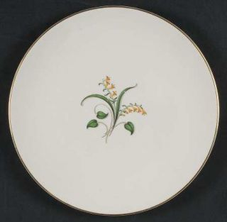 Edwin Knowles Forsythia Salad Plate, Fine China Dinnerware   Yellow Flowers,Gree