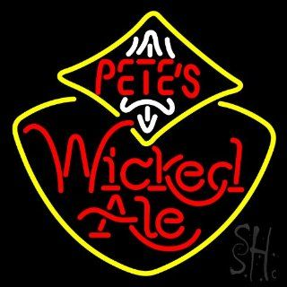 "Petes Wicked Ale Outdoor Neon Sign 24"" Tall x 24"" Wide x 3.5"" Deep : Business And Store Signs : Office Products"