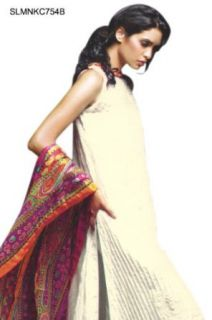 SLMNKC754B   Cbazaar Salwar Kameez White: World Apparel: Clothing