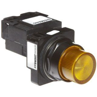 Siemens 52BL4K9 Heavy Duty Pilot Indicator Light, Water and Oil Tight, Plastic Lens, Transformer, 755 Type Lamp or 6V LED, Amber, 600VAC Voltage Industrial & Scientific