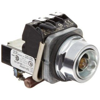 Siemens 52PA6MNA Heavy Duty Push To Test Indicator Pilot Light, Incandescent Lamp, Water and Oil Tight, Plastic Lens, Resistor Type AC/DC, 24V 757 Type Lamp or 24V LED, No Lens, 1NC + 1NO Contact Blocks, 120 volts Industrial & Scientific