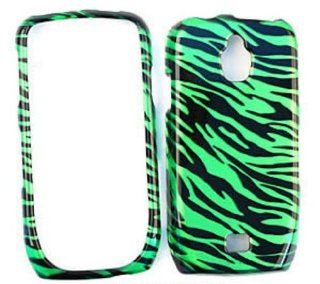 Samsung Exhibit 4G T759 Transparent Design, Green Zebra Print Hard Case/Cover/Faceplate/Snap On/Housing/Protector: Cell Phones & Accessories