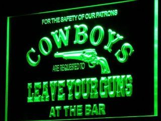 ADV PRO i783 g Cowboys Leave Guns Bar Beer Neon Light Sign